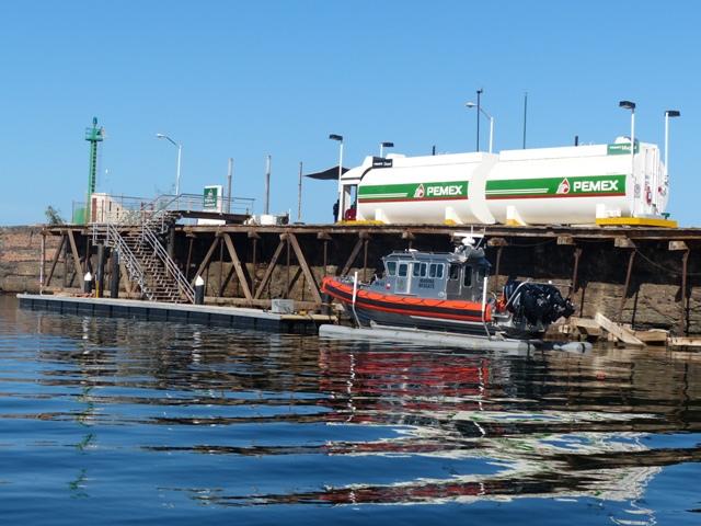 Fuel dock and naval vessel, Santa Rosalia