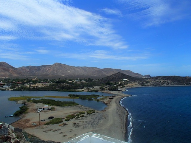 Looking north from the lighthouse, Mulege